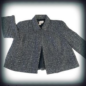 Spiegel Tweed Cropped One Button Blazer 12